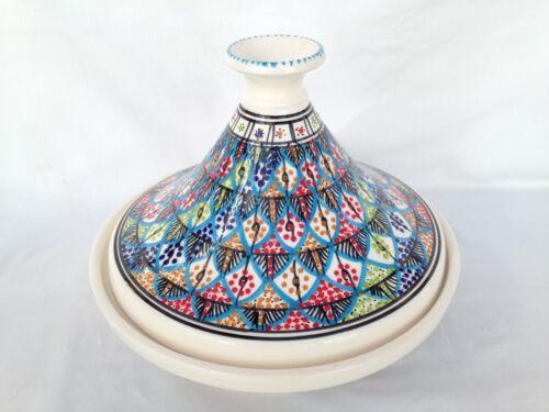 Lg Tagines Tunisian Rainbow Autumn Red Carthage Or Blue Designs Handmade Fab