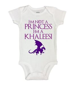 9b11376b4e Details about I'm Not A Princess I'm A Khaleesi - Funny Kids Rompers