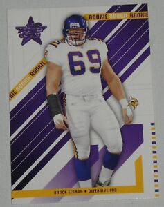 low priced 22507 a22df Details about Brock Lesnar 2004 Leaf Rookies & Stars Vikings Football Card  #155 RC WWE UFC 100