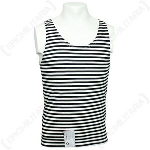 Russian-Black-Stripe-Vest-Telnyashka-100-Cotton-Marine-Sleeveless-Tank-Top