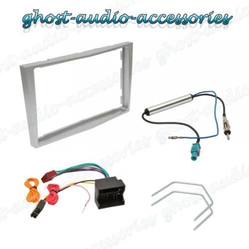Vauxhall Luz Plata 2 DIN Radio Estéreo Fascia Facia Kit de montaje de placa de adaptador