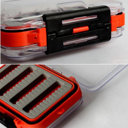 Double Side Waterproof Foam Fly Fishing Bait Lure Hook Storage Case Box Ch WQ