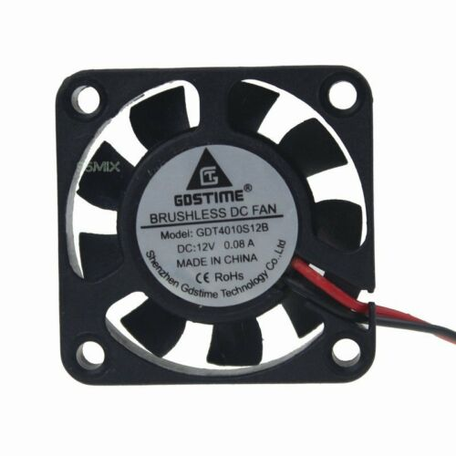 DC 12V 2Pin 40mm 40x40x10mm 0.08A Mini Brushless PC Computer Cooler Cooling fan