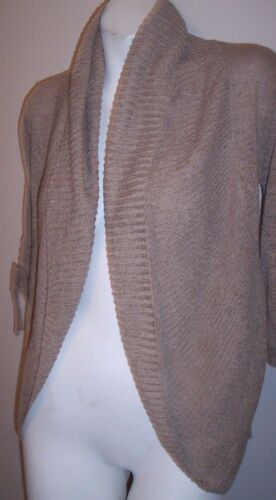 Willi Smith Sweater S Beige Ruched Sleeves Cocoon
