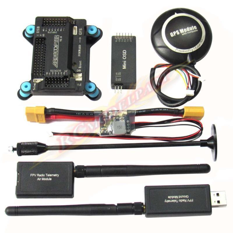 Controlador de vuelo APM2.8 NEO-7M GPS 3DR 915Mhz módulo de alimentación de telemetría OSD