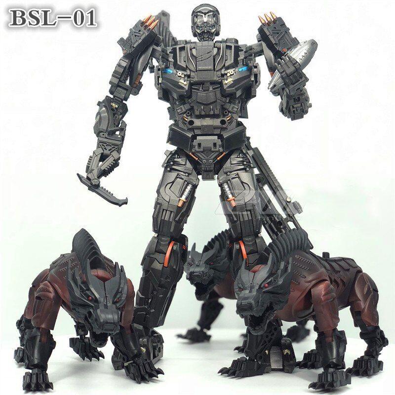 TRASFORMAZIONE BSL-01 KO versione UT R-01 steeljaw figura giocattolo di blocco W/3 Dogs