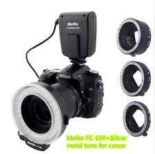 Meike FC100 LED Ring Flash Light+Auto Focus Macro Extension Tube Ring for Canon