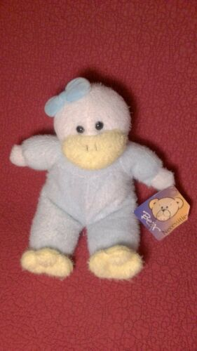 "12"" Bear Necessities DUCK CHICK BABY RATTLE blue yellow plush stuffed toy wtag"