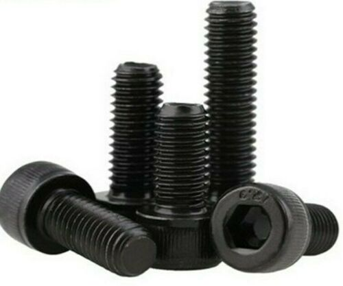 M8 x 70mm Socket Head Cap Screws 12.9 Alloy Steel Black Oxide 1.25 coarse 10pcs