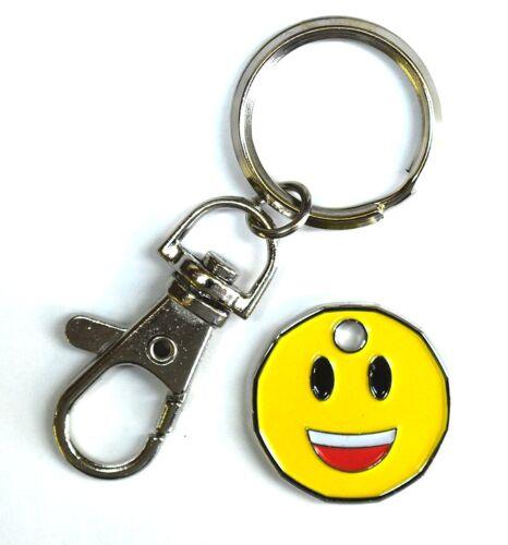 1 Unit Smiley Emoji Nouvelle Forme Pièce de Monnaie Chariot Jetons Porte-Clefs