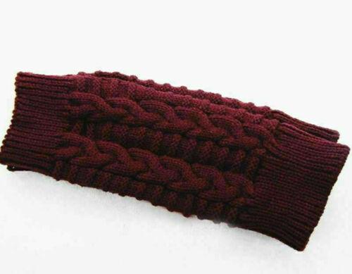 Ladies Warmer Soft Arm Women Knitted Fingerless Gloves Mitten Winter Wrist Knit
