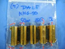 Lot Of 5 Vishay Dale Rhg 50 Wirewound Chassis Mount Resistor 50w 10 Ohm 1