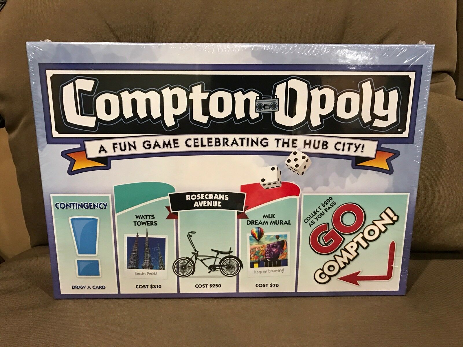 Compton-Opoly Board game (limited Edition) Comptonopoly