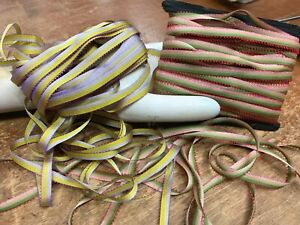 VINTAGE-OMBRE-Variegated-RIBBON-1-4-034-FLOWERWORK-1yd-Made-in-France