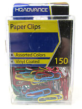 A&W Products Paper Clips, Vinyl Coated, Assorted Colors (12103)
