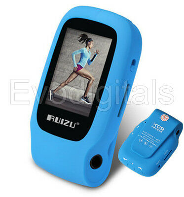 NEW BLUE RUIZU 36GB SPORTS MINI LOSSLESS MP3 MP4 PLAYER MUSIC VIDEO FM TUNER