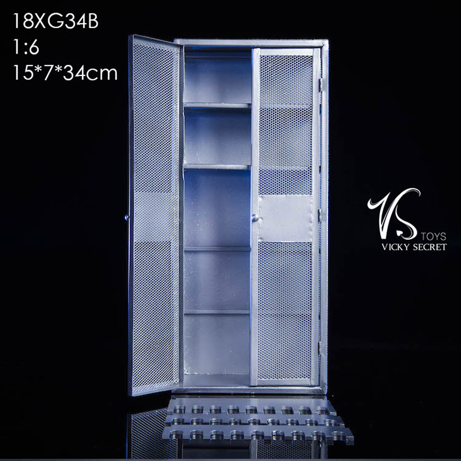 VSSpielzeugS 1 6 Scale Metal Cabinet 18XG34B Fit for 12  Wirkung Figure