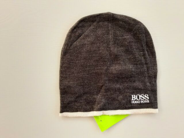 Hugo Boss Unisex Winter 100/% Cotton Genuine Black Beanie Include Tags