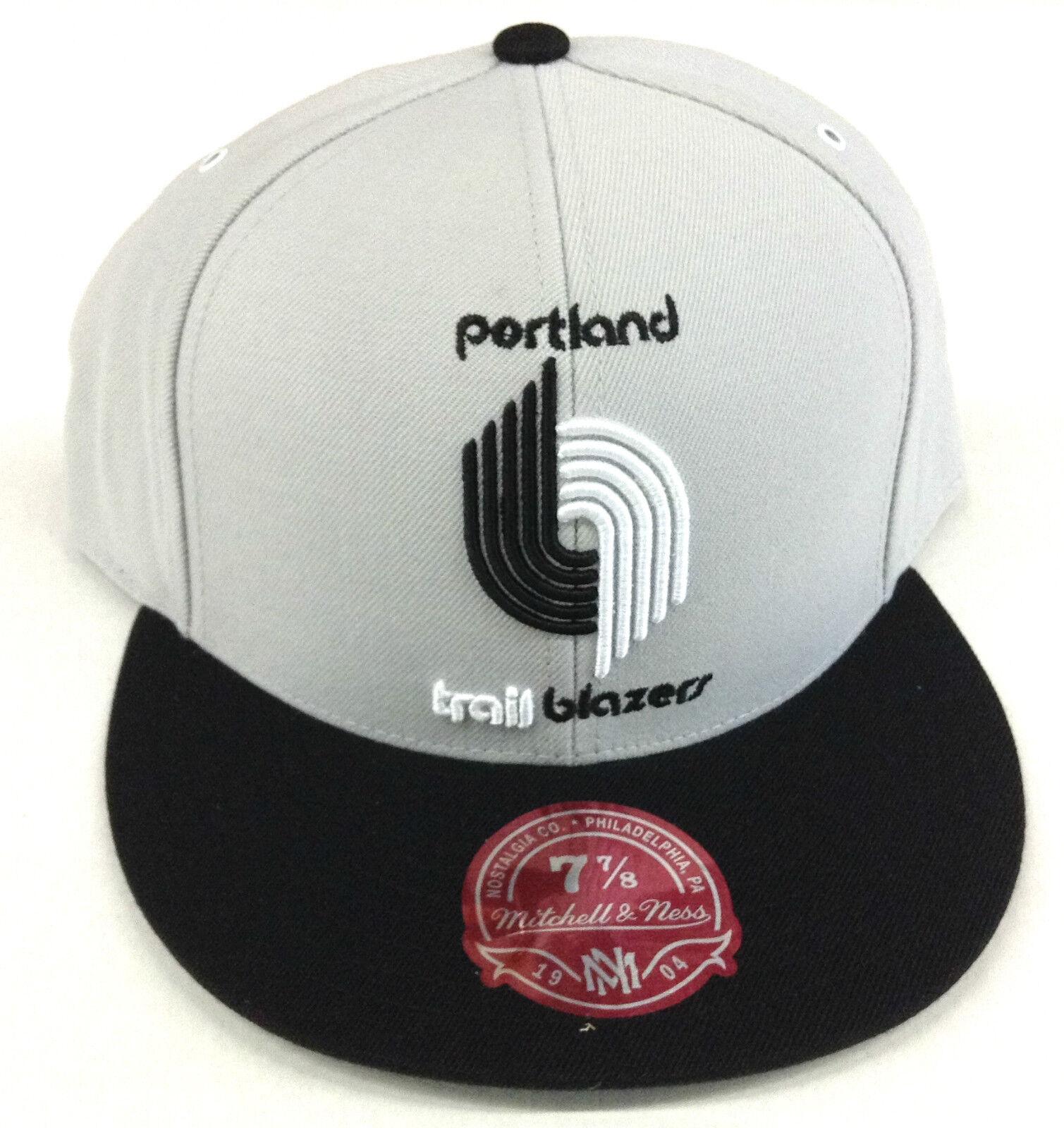 NBA Portland Trailblazer Trailblazer Trailblazer Mitchell & Ness Flat Cap Hut Neu 38e9e5