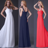 Red A-Line Chiffon Bridesmaid Formal Party Dresses Size 6 8 10 12 14 16 18 20
