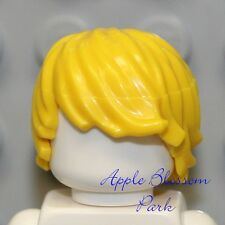 ☀️NEW Lego Minifig Hair White TOUSLED Male Boy Short Side Swept Combed Head Gear