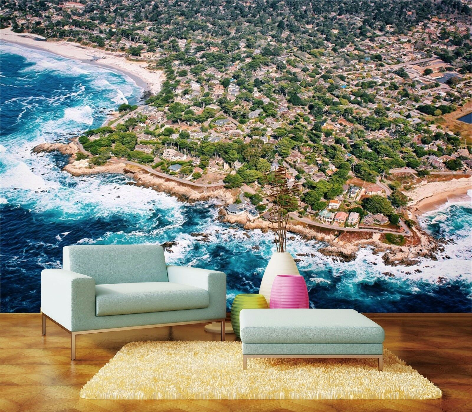 3D Seaside City 723 Wall Paper Wall Print Decal Wall Deco Indoor AJ Wall Paper