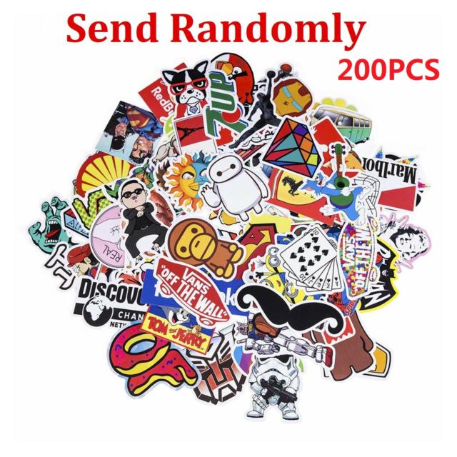 200 Random Vinyl Decal Graffiti Stickers Car Bomb Laptop Waterproof Skate Laptop
