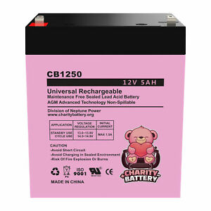 SLA Battery for Ademco Alarm Replacement 12V 5AH F1 Sealed Lead Acid