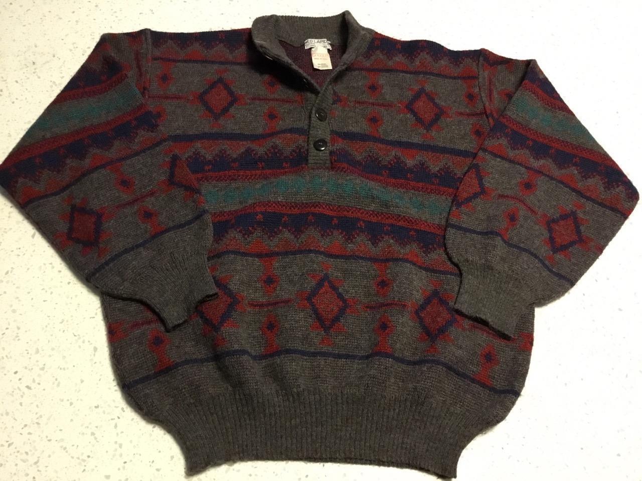 Vintage Ted Lapidus Wool Alpaca Sweater Adult Size Large  Tricot 5