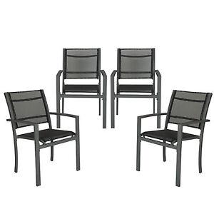 la imagen se est cargando juego de 4 sillas de jardin sillon balcon - Sillon Exterior