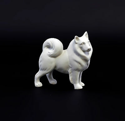 Porcelain Figurine Spitz Dog Bisque Porcelain Wagner&apel H9cm 9942684 Other Antique Ceramics Ceramics & Porcelain