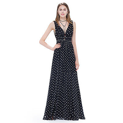 Sexy Chiffon Wedding Bridesmaid Formal Evening Party Dress Ball Gown Prom 09016
