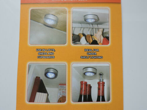 STICK ON LED LIGHTS BATTERY Home under shelf lighting MINI SPOT Lofts NEW Light