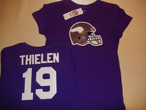 new style ff823 4a24e Details about 9725-1 WOMENS Ladies NFL Minnesota Vikings ADAM THIELEN  Football Jersey Shirt