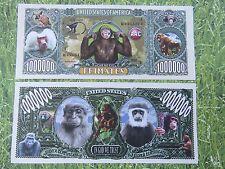 Monkeys, Apes, Primates ~  $1,000,000 One Million Dollar Bill: United States USA