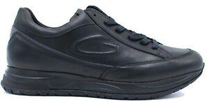 Alberto Guardiani art.AGM004804 Sneaker Scarpa Sportiva Uomo in Pelle Col Nero