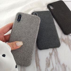 Para-iPhone-XS-Max-Xr-X-6s-7-8-Plus-Calido-Tejido-Suave-a-Prueba-de-impactos-Estuche-con-Cubierta