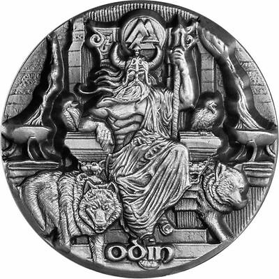YMIR 2017 3 oz Fine Silver Coin MAX RELIEF ASGARDS THE FATHER OF GIANTS