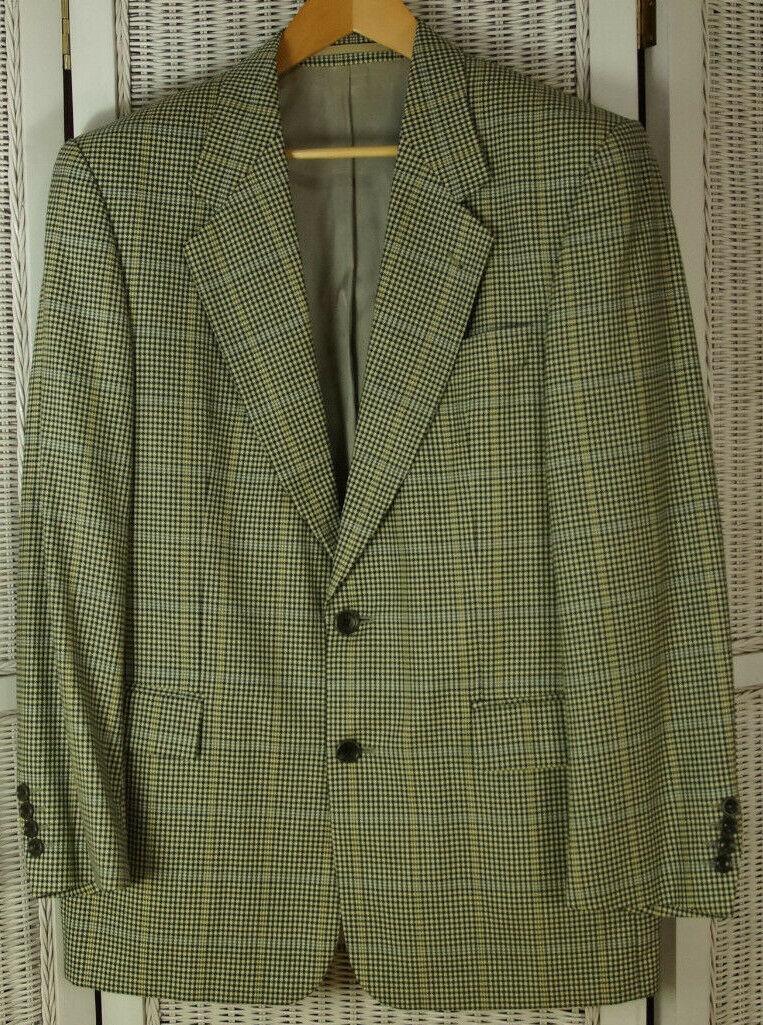 HUGO BOSS Dionysos Dogtooth Overcheck Tweed Jacket 43  Chest Blazer Sports Coat