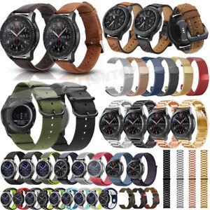 9cc3613911e Detalles acerca de Reloj Pulsera Acero Inoxidable Cuero malla De Silicona  Correa para Samsung Galaxy 42 46mm- mostrar título original
