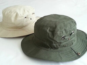 27364fc6fbcdc AUSSIE SAFARI OUTBACK SUN HAT OLIVE KHAKI COTTON BUSH BUCKET HAT CAP ...