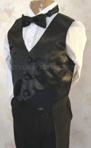 NEW BOY FORMAL 5 Pcs BLACK TUXEDO SET Shawl Collar Sz L//2T//5//12//14,Wedding