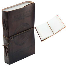 Medieval European Handmade Dark Leather Diary Journal Notebook