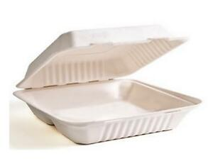 Sugarcane Take Out Containers, 9 x 6 x 3, 1 Compartment, 50 pcs Canada Preview
