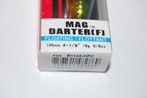 "Yo Zuri MAG Dard 105 F Flottant 4 1//8/"" 5//8oz r1143-hpc Perche Vert Long Cast"