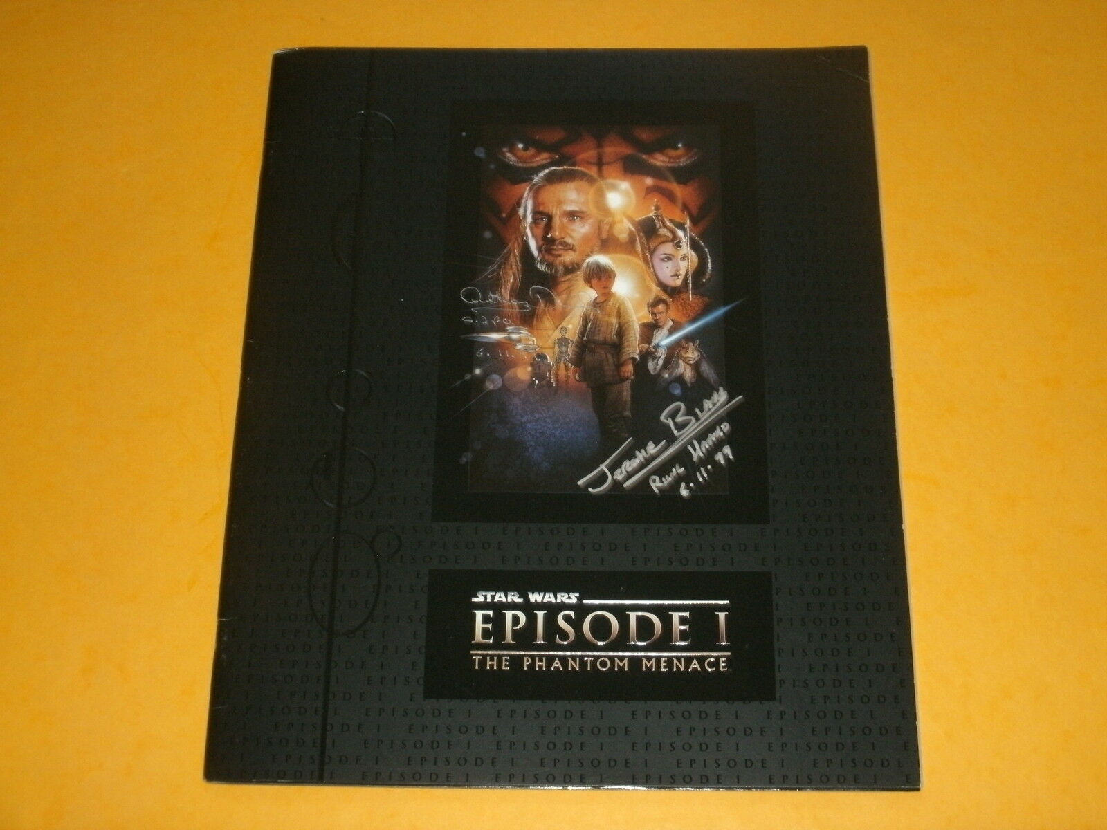 Star Wars Episode 1  Premiere Programme signed by Anthony Daniels & Jerome Blake