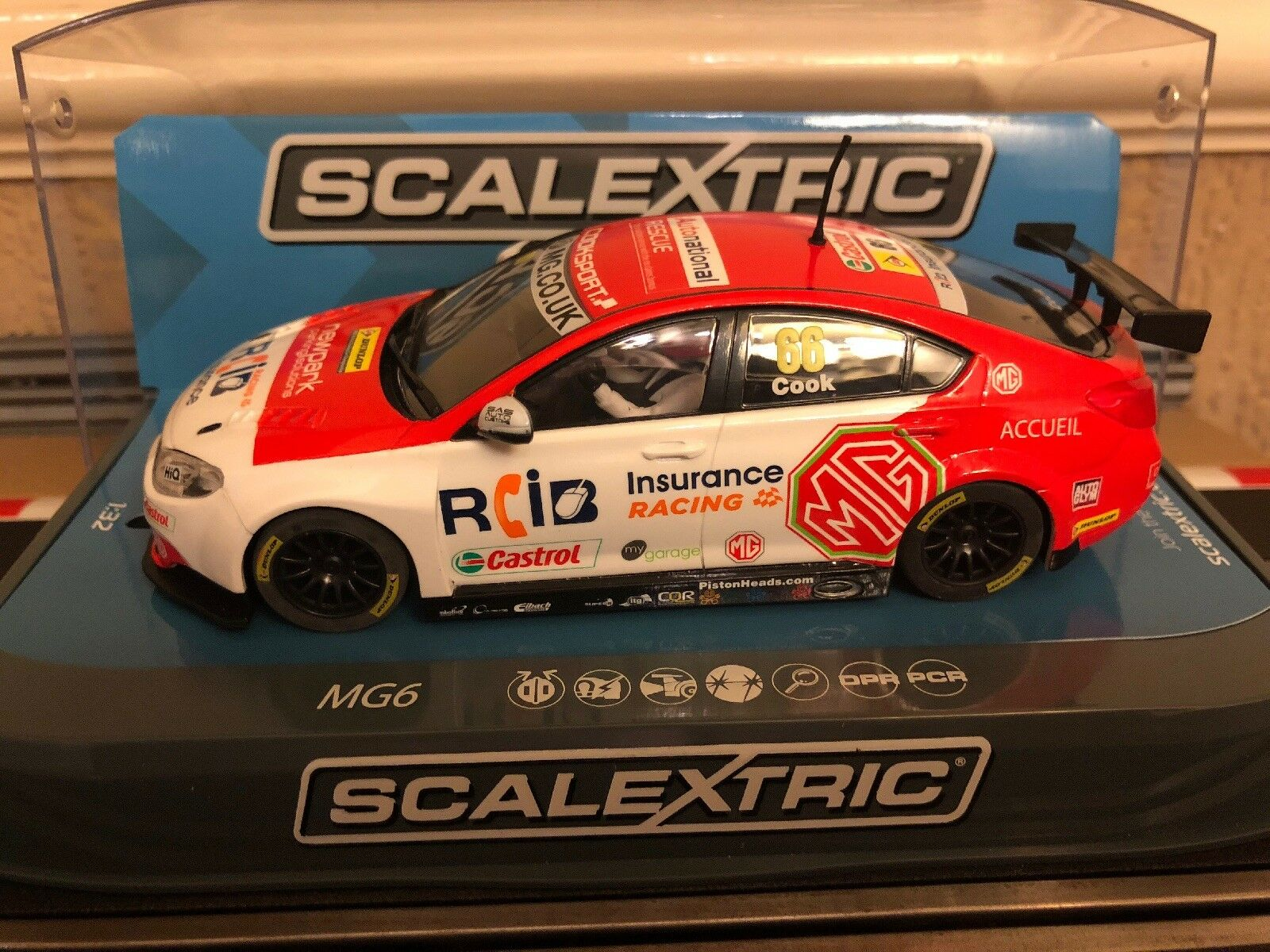 Scalextric Digital BTCC MG6 2016 British Touring Car No66 C3863 New Boxed