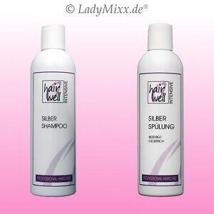 Silver-Silber-Set-Shampoo-amp-Conditioner-Spuelung-2x250ml-Anti-Gelbstich-Hairwell