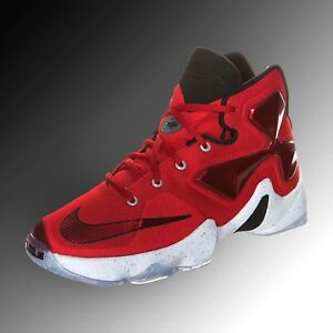 68875946806 Nike Lebron James XIII 807219 610 University Red Basketball Shoe Men ...