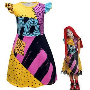 The Nightmare Before Christmas Kids Baby Girls Halloween Sally Dress Costume New